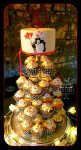 Cup cake tower wedding cake