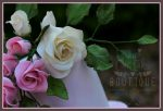 hand made sugar roses and leaves