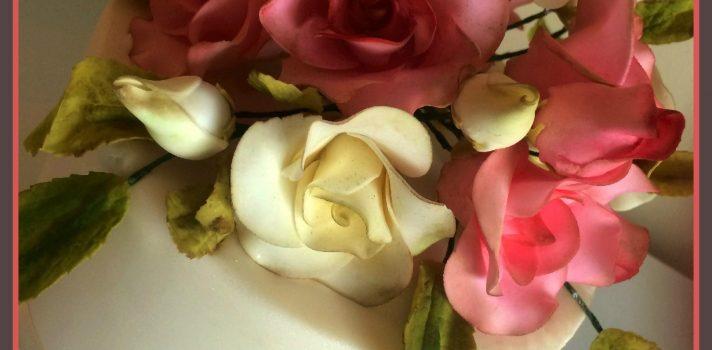 wedding cake hand made sugar rose topper  award winning wedding cakes