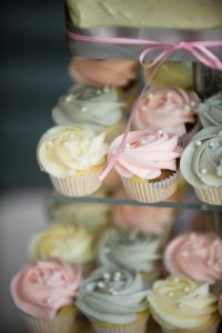 wedding cake and cuo cakes