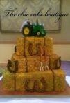 horse themed wedding cake