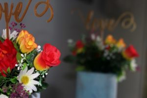 wedding cake freash flowers