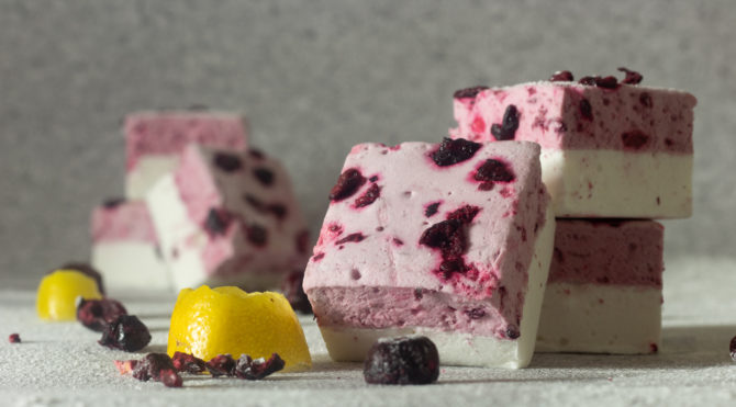 Sour Cherry and lemon marchmallow