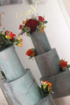 wedding cake reflection