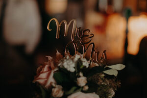 Mr & Mrs wedding toppers